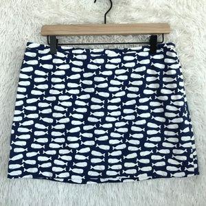 Whale Mini Skirt Blue White Vineyard Vines